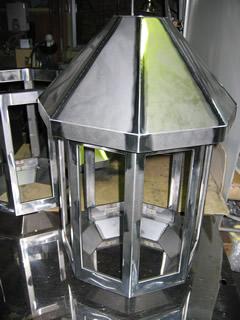 SPCC 1t 外側は溶接仕上→塗装へ 照明器具