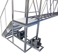 SUS304 角パイプ・SSアングル架台と階段